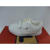 Fila Zapatillas Colegiales Con Velcro Niñas Talles 22 Al 28
