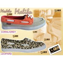 Zapatillas Qix Importadas Mod. Malibu Coral / Gray