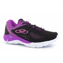 Zapatillas Olympikus Modelo Running Spirit 2 Negro/violeta