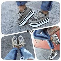 Zapatillas Con Plataforma Mujer