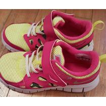 Impecables Zapatillas 1 Era Marca De Niña