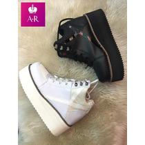 Zapato Zaptillas Semialtas Con Plataforma!! Divina