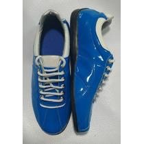 Zapatillas Ninfides Calzados De Autor Azul Francia 34 Al 44