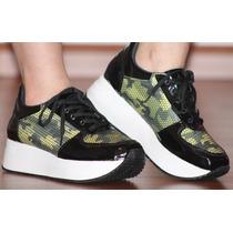 Zapatillas Sneakers Plataforma Moda Mujer 2015