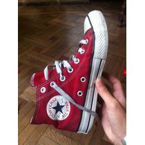 Botitas Converse Rojo Oscuro /bordó Talle 35