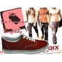 Zapatillas De Skate Qix Mod. San Francisco Burgundy