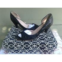 Zapatos Paruolo Sandalia Boca De Pez Negro 37 Solo 1 Uso