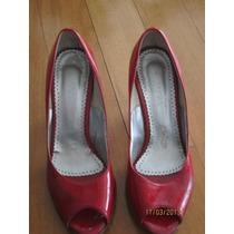 Sandalia En Charol Rojo Dior