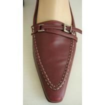 Perugia Zapatos 37 1/2 Cuero Vacuno Bordo-magenta (ana.mar)