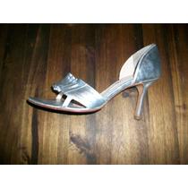 Zapatos, Sandalias Plateadas Stilleto.