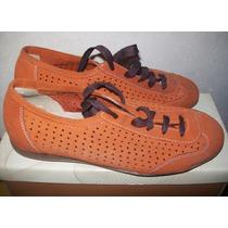 Zapatos Mujer Bajo Acordonado Gamuzado Gravagna Nº 37