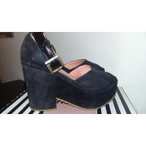 Zapato Heyas Plataforma Cerrada Negro 39