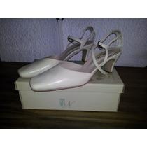 Zapatos Para Casamiento Natural, Cuero, Bodas, Fiestas