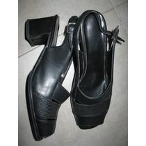 Sandalias De Cuero-38-suela De Goma Febo
