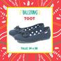 Zapatos Ballerina Toot T 34 A 38 Nena Moño En Piemonono!!