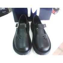 Zapatos Colegial Guillermina Marcel Cuero 100% Del 34 Al 40!