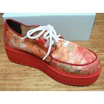 Creepers Zapatilla Zapato Plataforma A Estrenar Viamo Nº 38
