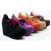 Botas Mujer Plataforma Zapatos Gamuza Almacen De Cueros