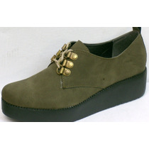 Zapatos Creepers Plataforma Mocasines Acordonados