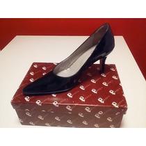 Zapatos Stilettos De Cuero - Charol Negro