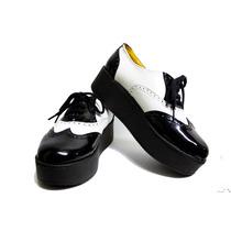 Zapatos Con Plataforma Corte Ingles De Cuero Y Charol