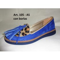 Zapatos En Gamuza Con Borlas - Zapateria Isis