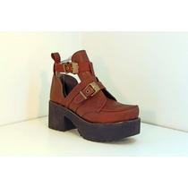 Zapato Tipo Mocasín Con Suela Ruta - Nina Molina - Art. 7010