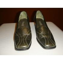 Norwich Zapato De Mujer Cuero Color Verde Oscuro Nro 39