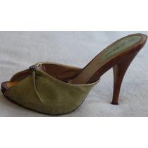 Sandalias Stilettos Importadas, No Es Cuero, Talle 36