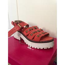 Zapatos Con Tachas Color Coral