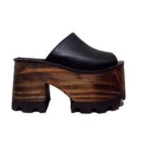 Zapatos Mujer Plataformas Sandalias Madera Cuero Paradisea