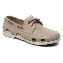 Crocs Beach Line Boat Shoe Men Marron Azul Envios Todo Pais