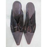 Fadma Zapatos Talle 38 Hermoso Diseño Cuero Y Gamuza