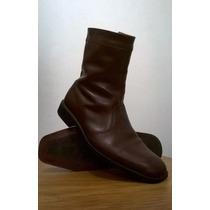 Botas De Cuero De Hombre Con Cierre Talle 40 Cnv Shoes Bsas