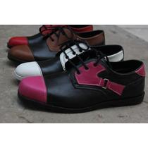 Zapatos De Cuero Combinados Mujer,hombre Joselo Calzados