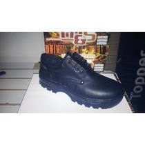 Zapato De Trabajo , Puntera De Acero, Cuero, Base Febo