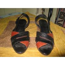 Sandalias Dama De Fiesta O Vestir Tipo Cocodrilo Taco Chino