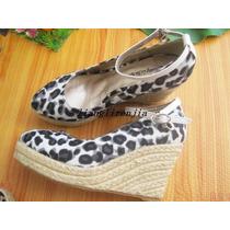Zapatos De Leopardo Taco Chino