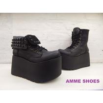 Borcegos.doble Uso.botas.plataforma.amme Shoes