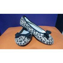 Hermosos Zapatos Chatitas De Nena Importados Animal Print