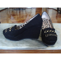 Divinas Plataformas De Gamuza Zapato