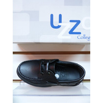 Zapato Escolar Colegial Cuero Legitimo Num. 34/40