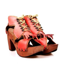 Zuecos Sandalias Taco Mujer Zapatos Almacen De Cueros