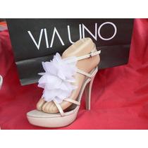 Sandalia Zapato A Estrenar Plataforma Nº 37 Via Uno