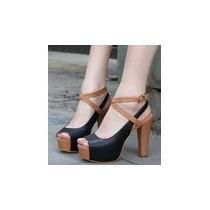 Zapatos Con Plataforma - Liquido Ultimos Pares!!