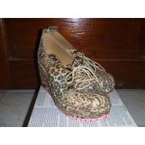 Zapatos Mujer Altos Plataforma Leopardo Talle 39