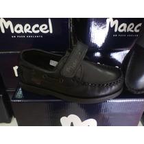 Zapatos Náuticos Colegial Marcel Cuero100%varón Abrojo 27-40
