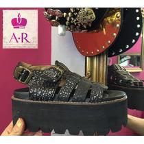 Zapato Sandalia Alta Con Plataforma Con Hebilla! Divina
