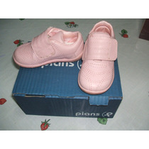Zapatillas Mini Casual De Vestir Rosa Con Abrojo Marca Pians