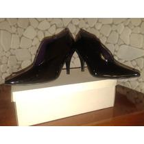 Zapatos Taco Alto Color Negro Opaco O Charolado, Excelentes